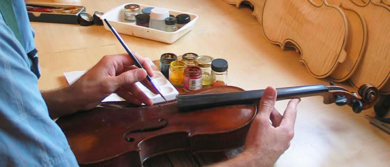 re-varnishing a much loved violin
